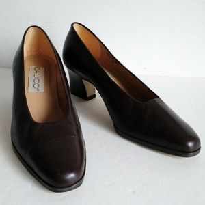 Vintage CALICO Dress office shoes low heel